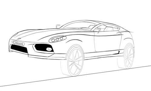2013年底将投产 保时捷Cajun手绘图曝光 汽车之家