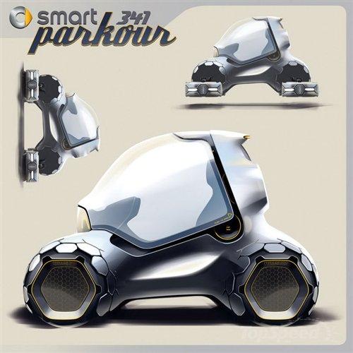 smart 341 Parkour获洛杉矶设计赛冠军 汽车之家