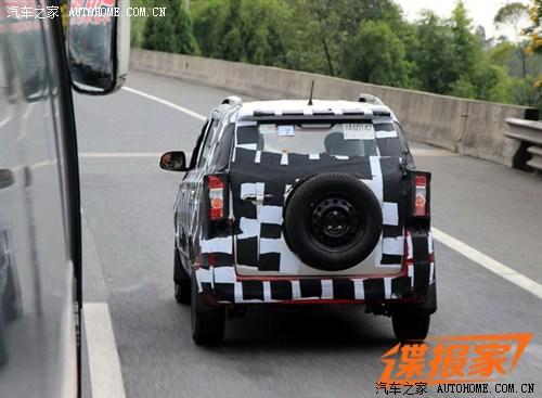 背挂式备胎设计 北汽新SUV车型路试谍照 汽车之家
