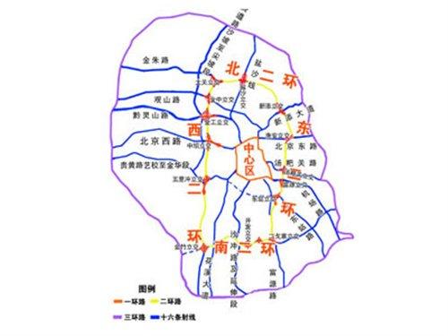 盐射高速公路路线图