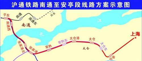 【图】国家发改委批新建沪通铁路 线路示意图_汽车之家