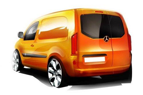 9月亮相 奔驰全新商用车Citan效果图 汽车之家