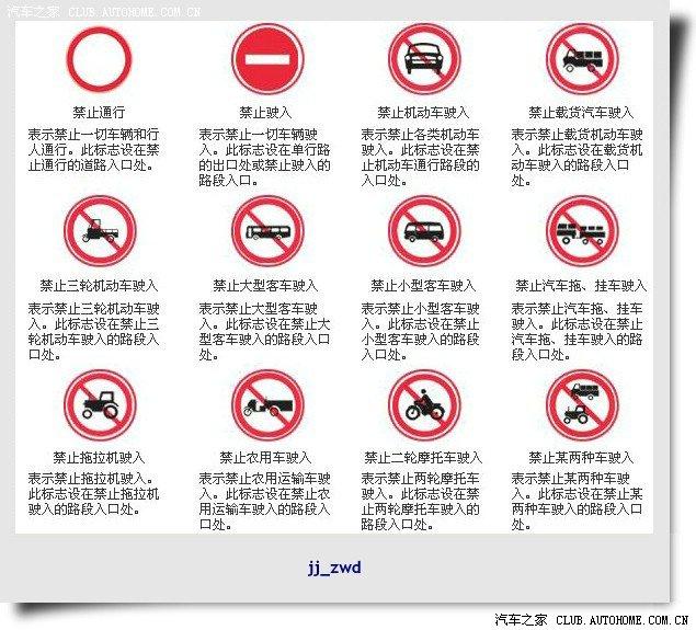 【图】zwd图解交通标志、标线及路标 5楼1