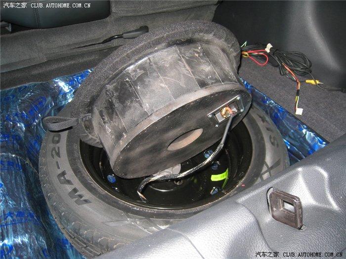 备胎低音炮改装 最节省空间的方案 东洋味 汽车音响 先锋拉花高清图片