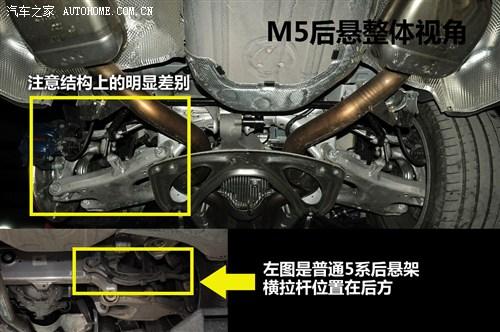 结构,但是普通5系的横拉杆位置在后方(选装后轮主动转向的5系这个位置