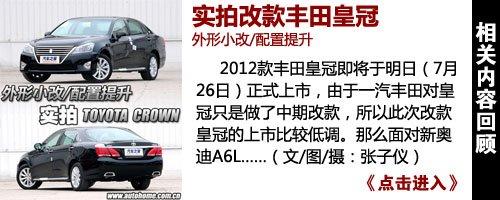 外形小改/配置提升实拍改款丰田皇冠